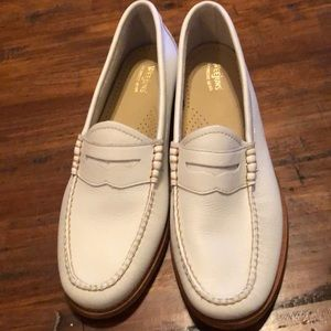 G.H. BASS Weejuns Whitney White Loafers Sz 9